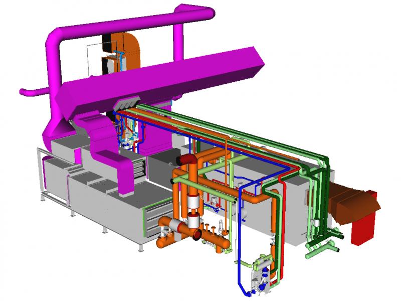 Prolactal Lüftungsanlage 3D Planung